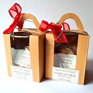 Brand New VEGAN 2 Soap Gift Pack Christmas Gift Idea Handcrafted Soap